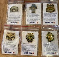 Vintage 1987 LA Dodgers UNOCAL 76 1-6 Pins / Set NEW