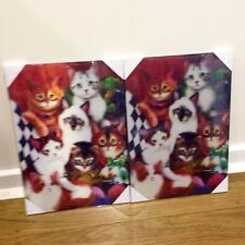 3D Lenticular WOOD wall display Plaque Gorgeous Cats / Kittens - Great For Gifts