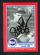 Scott Livingston #4 signed autograph auto 1990 US Federation Team USA Card