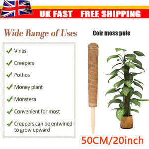 50cm Coir Moss Totem Pole Creeper Plant Support Climbing Extension Stick Garden