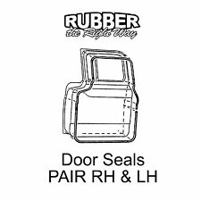 1957 1958 1959 1960 Ford Truck Door Seals - Pair