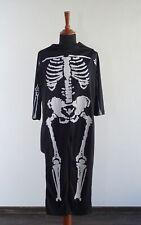 Halloween Kostüm Skelett für Kinder Jungen Jungs Fasching Karneval Party Schwarz