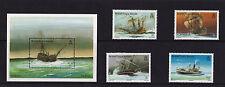 British Virgin Islands - 1987 Shipwrecks - U/M - SG 625-8 + MS629
