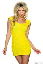 *♥*Sexy Mini  Cocktail-Kleid Business  Abend-Kleid  Party Größe  36/38 Gelb