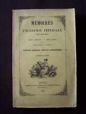 Mémoires de l'Académie Impériale de Metz - 1862-1863 - Première partie
