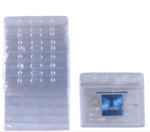 10 Piece Waterproof PVC ID Card Pouches Clear Horizontal Style Badge Season Pass