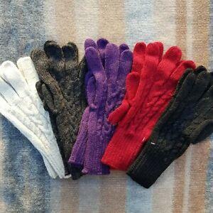 100% Alpaca Gloves Super Warm Soft Plaits Knitted Wool Design Women's Men's Gift
