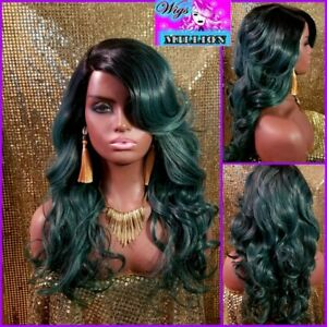 """Maxi"""" Side Deep Natural Plucked C-Shape part, heat resistant wig"""