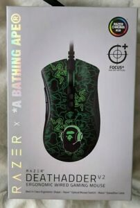 Razer X A Bathing Ape® BAPE Neon Camo Mouse *in hand* Green/Black Brand New
