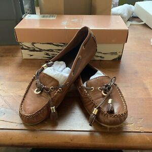 Moda in Pelle Arcade Moccasin Tan Leather Size Uk 5, Lot S47