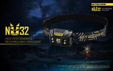 Nitecore NU32 550lumens XPG -G3 S3 RED CRI Compact Rechargeable Camping Headlamp