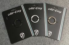 All City Silver, Black Stainless Cr Mo Track Lockring Lock Ring