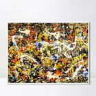 """Framed Extra Large Canvas Art Convergence by Jackson Pollock Abstract 32""""x44"""""""
