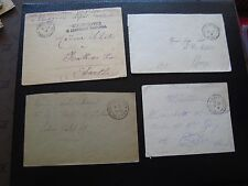 FRANCE - 4 enveloppes sans timbre (cy99) french