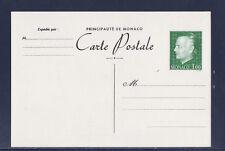 Mo/ Monaco  entier carte postale   1f  vert olive   neuf
