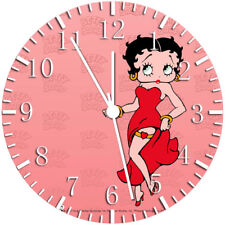 Betty Boop Frameless Borderless Wall Clock Nice For Gifts or Decor W92