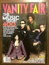 Vanity Fair November 2000 1st Music Issue Best of the Best Madonna U2 etc etc