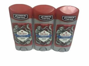 3 Pack Old Spice Deodorant for Men Wolfthorn Wild Collection, 3 OZ