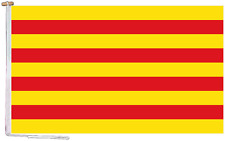 More details for catalonia spain flag with rope and toggle - various sizes