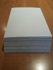 Pappe Bastelpappe Karton A4  29,7 x 21,0 cm 10 St.weiß /grau 0,5 mm 500g/m