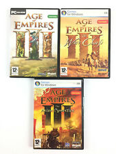 Age of Empires 3 III + The War Chiefs + Asian Dynasties Lot 3 Jeu PC L'INTEGRALE