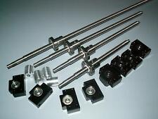 25mm ballscrew RM2505-300/900/1650/1650mm-C7+4set BK/BF15 end bearing support