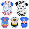 Newborn Infant Baby Boy Girl Superhero Romper Jumpsuit Bodysuit Clothes Outfits