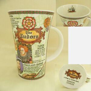 "DUNOON Fine Bone China Large Coffee Mug-""The Tudors""-design by Caroline Dadd"