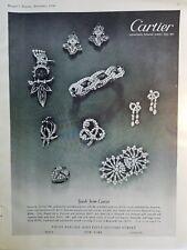 1950 Cartier Exotic & Love Birds Pin Brooch Bracelet Ring Diamond Jewelry Ad