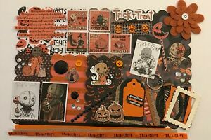Trick 'r Treat Sam Halloween Custom Chipboard Mini Book Album Kit Scrapbook