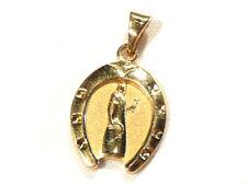 Bijou plaqué or 18 carats pendentif fer à cheval  femme  pendant