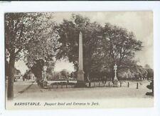 Postcard Barnstaple Newport Road War Memorial 1941