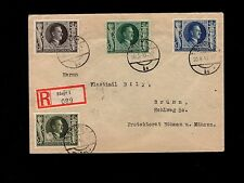 Germany WWII Hitler Birthday Issue Registered Steyr On Birthday Correct Rate 7m