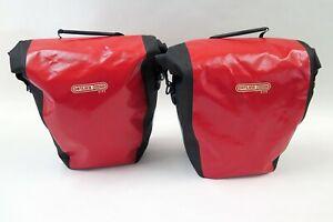 ORTLIEB City Back Roller Gepäckträgertaschen Set mit 2x 20 L in rot / schwarz