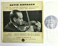 COLUMBIA 33CX 1268 - DAVID OISTRAKH Bruch Prokofiev Violin Concerto No 1 1955 VG