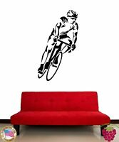 Wall Stickers Vinyl Decal Athlete Sport Bike Racing z1118