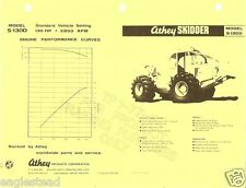 Equipment Brochure - Athey - S-130D - Skidder - Logging Forestry c1970s (E1413)