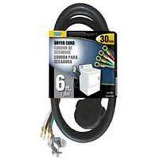 NEW POWER ZONE 4570065 DRYER CORD 6 FOOT BLACK 10/4 SRDT 30 AMP 4 PRONG SALE