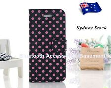 Polka Dot Magnet Flip Case For the iPhone 5 (Black)
