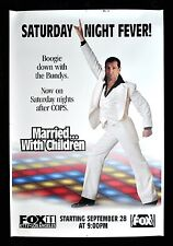 MARRIED WITH CHILDREN * CineMasterpieces AL BUNDY DISCO PROMO POSTER 1989