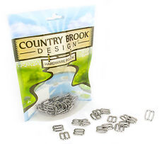 50 - Country Brook Design® 3/8 Inch Metal Round Wide-Mouth Lite Weight Triglides