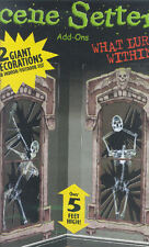 WINDOW LURKERS Scene Setter Halloween Party wall decoration kit 5' skeleton