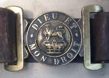 Victorian (1837-1901) Late Reign British Army Service Belt & Brass Buckle, UK
