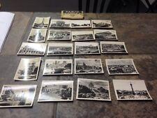Paris Set of 20 3/4 x 2 1/2 B & W Photos In Envelope  With Index torn Holder
