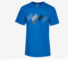 Nike Sportswear Stagger Tilt T-Shirt Imperial Blue CD8466-912 Men's NWT