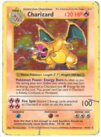 Pokemon Card - Base 4/102 - CHARIZARD (holo-foil) (SHADOWLESS) *Non-Mint Played*