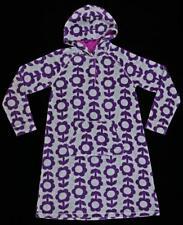 MINI BODEN Girls Daisy Flower Velour Hoodie Dress Gray & Purple 11-12 Yr NWOT kg