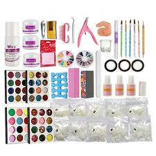 Nail Art Acrylique Ongle Décoration Outils - Glitter Powder ,Brosse,colle,tampon