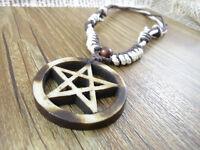 Collier en forme d'étoile et cercle d'os à l'épi exotique fabriqué à la main