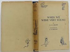 A.A. MILNE & ERNEST SHEPARD (illus) When We Were Very Young FIRST EDITION